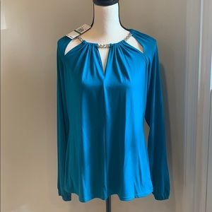 Micheal Kors blue blue blouse